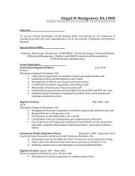 Dialysis Nurse Resume Samples Charge Nurse Resume Sample