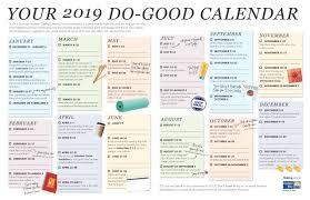 How To Make A School Calendar Your 2019 Do Good Calendar United Way Greater St Louis