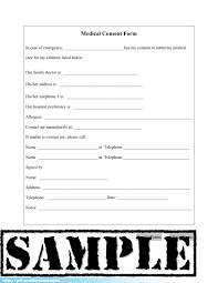 parental permission form template medical treatment consent form permission letter for medical treatment
