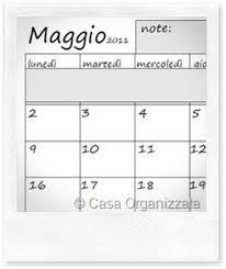 Calendario Planning Mensile Da Stampare Casa Organizzata