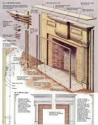 fireplace mantels plans woodarchivist um size
