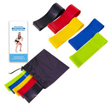 Stretch Band Loops Exercise Chart Elastic Resistance Bands Workout Rubber Loop For Fitness Gym Strength Training Elastic Bands Athletic Fitness Resistance Band Exercise Chart Weight