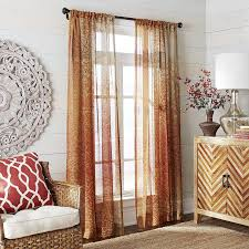 Pier One Living Room Autumn Leaves Sheer Curtain Pier 1 Imports Living Room