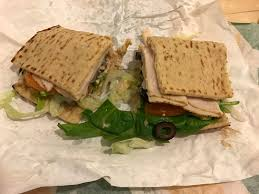 subway six inch turkey flatbread
