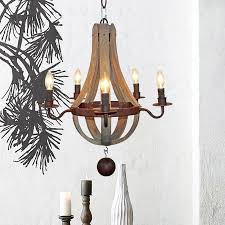 amata wooden flask shape 5 light candle style chandelier