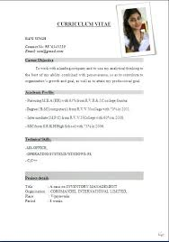 Resume Format On Word Inspiration Resume Format Picture International Resume Format Free Download