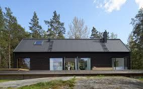 Dark Structured Modern House Minimalist Interior via