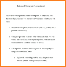 Compliant Letter Format Letters Of Complaint Template Allthingsproperty Info