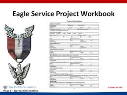 Eagle Scout Project Sign In Sheet Eagle Service Project Workbook Ppt Video Online Download