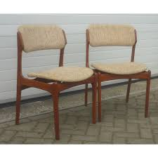 o d mobler set of dining chairs in teak and wool erik buch 1960s vine design furniture previous