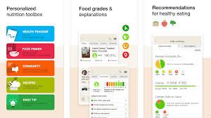 screenshot of food tracking app fooducate nutrition tracker