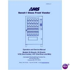 Ams Vending Machine Manual Mesmerizing USERSERVICE MANUAL For AMS Sensit48 Models 48 48 VCB VCF