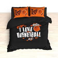 33 wonderful ideas basketball comforter sets personalized bedding i love hearts custom duvet or for