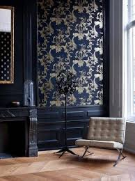 victorian modern furniture. beautiful baroque wallpaper and modern furniture in a navy blue room the victorian p