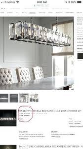 harlow crystal rectangular chandelier 62 brand new restoration hardware full crystal chandelier for in c