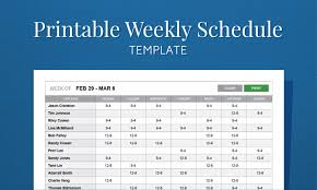 Excel Templates For Scheduling Employees Free Printable Weekly Work