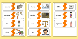 This fantastic range of phonics phase 5 worksheets and resources is perfect for your students to explore phase 5 letters and sounds. Split Digraph Ee Words List Matching Cards Phase 5 Phonics