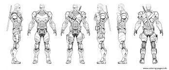 Small Picture Arkham Origins Deathstroke Turnaround Coloring Pages Printable