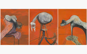 francis bacon 1909 1992 three stus for figures at the base of
