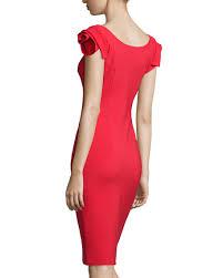 La Petite Robe di Chiara Boni Donna Rosette-Sleeve Sheath Dress