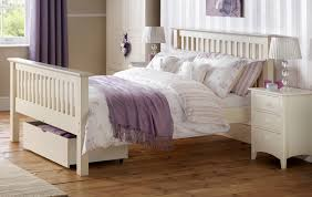high double bed. Delighful Double Barcelona Stone White Double Bed Frame  High Foot End Intended T