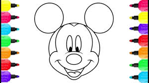 Mickey Mouse Coloring Pages Printables 1st Birthday Printable Pdf