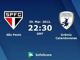 São Paulo Grêmio Catanduvense resultados ao vivo - SofaScore
