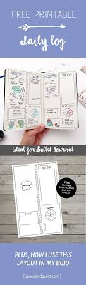 Bullet Journal Daily Log Free Printable Template Plus Tips And Ideas ...