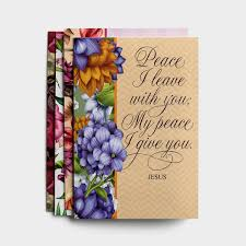 Sympathy Peace I Leave With You 12 Boxed Cards Kjv