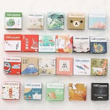 40 pcs box mini cartoon paper sticker decoration decal diy al sbooking seal sticker kawaii stationery gift material escol