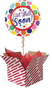 the balloon is sent already inflated with helium in a large red and white candy stripe box we can deliver your balloon gift to any uk
