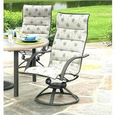 swivel rocker patio furniture chairs palisade sling high back dining chair cushion repair