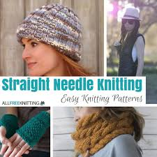 Easy Knit Hat Pattern Straight Needles Beauteous Straight Needle Knitting 48 Easy Knitting Patterns Stitch And Unwind