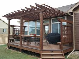 Pergola Design Awesome Tier Pergola Deck Handrail Decks With