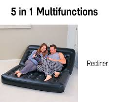 bestway inflatable 5 in 1 double air bed mattress couch sofa with electric pump 59 00
