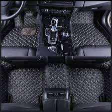 pu leather car front rear floor liner mat waterproof pad for bmw 3 series f30 2016 2018 brown cod
