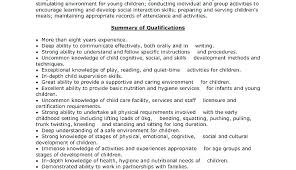 Day Care Experience On Resume Daycare Worker Resume Child Care Summary Sample Duties Childcare No