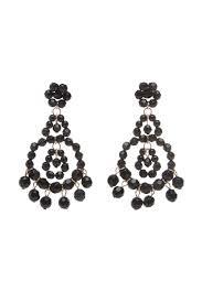 pop fun chandelier bead earrings in black