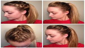 Very Easy Cute Hairstyles 4 Quick Easy Cute Sporty Hairstyles Youtube