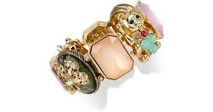 Betsey Johnson Gold-Tone <b>Lucky Cat</b> Stretch <b>Bracelet</b> - Lyst