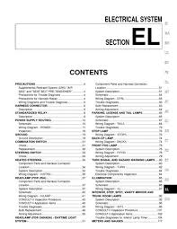 2002 nissan maxima electrical system el pdf manual 480 pages 2002 nissan maxima electrical system el 480 pages