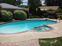 Lining a pool edge with thin brick tile is an excellent decorative option.  Our tile. Small Backyard ...