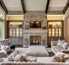 fireplace living room farm house