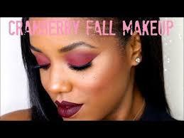 cranberry eyes dark lips fall makeup tutorial ellarie