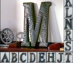 large metal letters wall art uk vintage metal monogram initials industrial style wall hanging letters art decor metal letter w wall art personalized letter p metal wall art 618x529