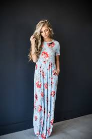 Maxi Dress Floral Dress Blonde Hair Mothers Day Sunday Dress