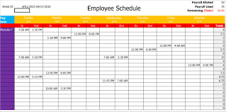 weekly schedule example 004 work schedule template pdf sample blank word