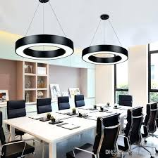 suspension ceiling lights new arrival modern office led circle pendant lights round suspension hanging pendant lamp ring chandelier ceiling light fixture