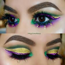 here are 13 mardi gras inspired makeup looks that are guaranteed to stop traffic
