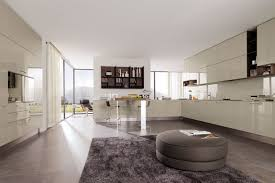 Modern Kitchen Living Room Ikea Apartment Counter Space Black And White Kitchen Cabinets